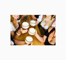 Bavarian girls in traditional Dirndl dresses are drinking beer and having fun at the Oktoberfest Classic T-Shirt