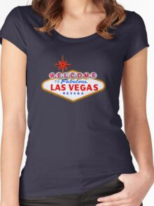 Welcome Las Vegas Shirt Women's Fitted Scoop T-Shirt