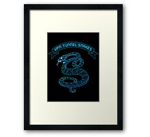 VPN Tunnel Snakes Framed Print