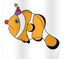 Funny Clownfish Poster