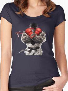 Ryu Street Fighter V artwork t-shirt Women's Fitted Scoop T-Shirt