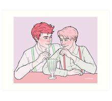 Milk Bar Boys Art Print