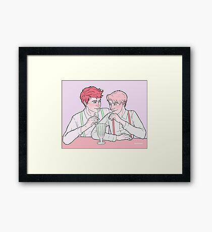 Milk Bar Boys Framed Print