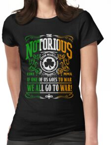 Conor Mcgregor - Go To War Womens Fitted T-Shirt