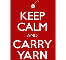 Keep Calm and Carry Yarn Knitting T Shirt Photographic Print