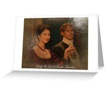 Outlander Quote/Lord & Lady Broch Tuarch oil painting. Greeting Card