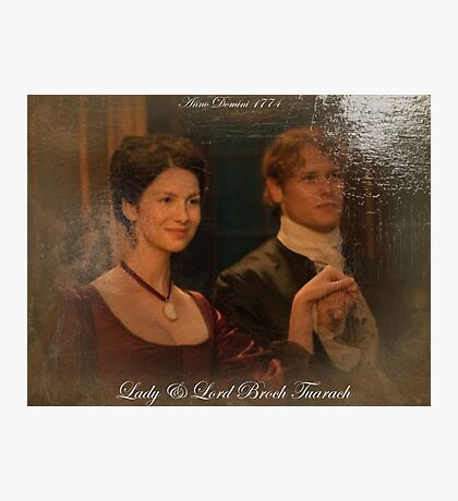 Outlander Quote/Lord & Lady Broch Tuarch oil painting. Photographic Print