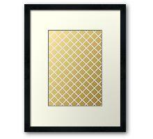 Pineapple Pattern Gold Framed Print