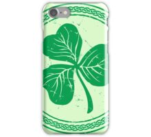 Clover & Braid - light green iPhone Case/Skin