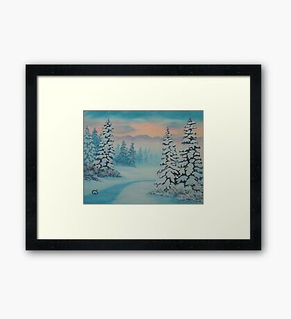 Early To Rise, winter scene Framed Print