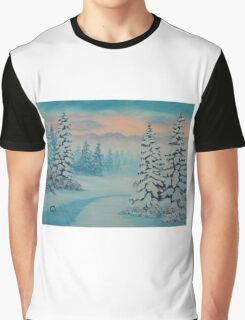 Early To Rise, winter scene Graphic T-Shirt