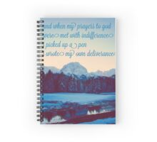 I Picked Up a Pen, I Wrote my Own Deliverance Spiral Notebook