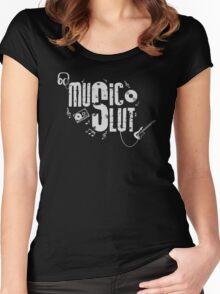 Music Slut Women's Fitted Scoop T-Shirt