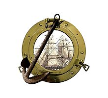 Clipper Through A Porthole Photographic Print