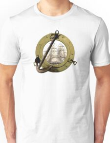Clipper Through A Porthole Unisex T-Shirt