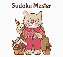 Sudoku Master Cat Womens Fitted T-Shirt