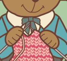 Rather Be Knitting, Bear Sticker