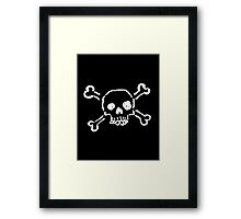 Cartoon Skull II Framed Print