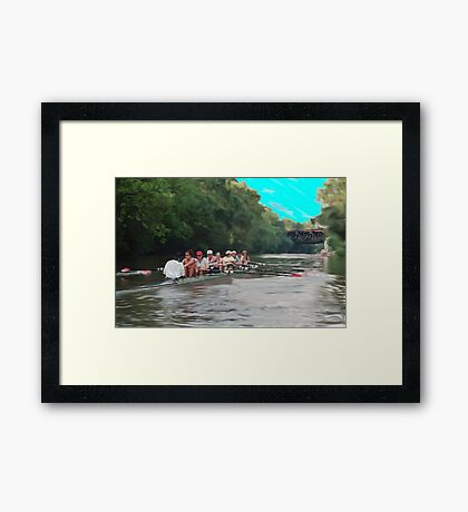 Rowing Series A  Framed Print
