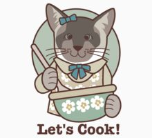 Let's Cook! Siamese Cat One Piece - Short Sleeve