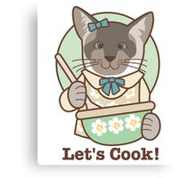 Let's Cook! Siamese Cat Canvas Print