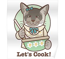 Let's Cook! Siamese Cat Poster