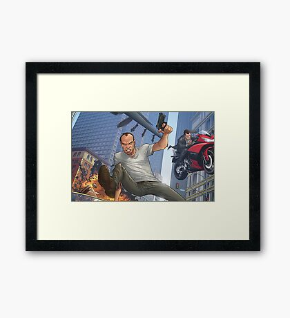 GTA 5 Artwork  Framed Print