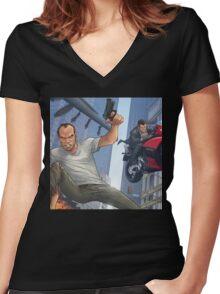 GTA 5 Artwork  Women's Fitted V-Neck T-Shirt