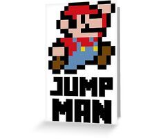 Mario Jump Man Greeting Card