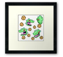 Cookie Dinosaur Framed Print