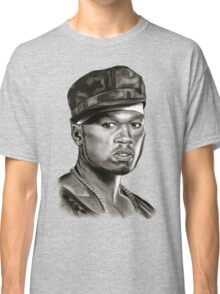 50 cent in black and white Classic T-Shirt