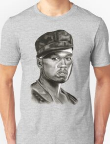 50 cent in black and white Unisex T-Shirt