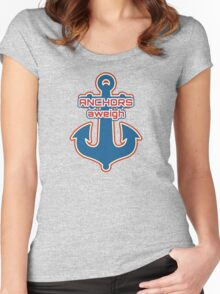 Anchors aweigh Women's Fitted Scoop T-Shirt