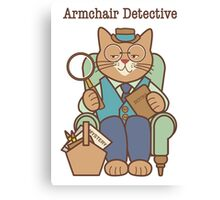 Armchair Detective, Cat Canvas Print