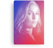 X-files Dana Scully sticker Canvas Print