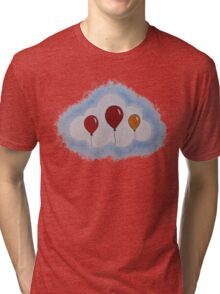Balloons in Coud Tri-blend T-Shirt