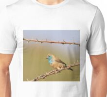 Blue Waxbill - African Wild Bird Background - Bliss of Colors in Nature Unisex T-Shirt