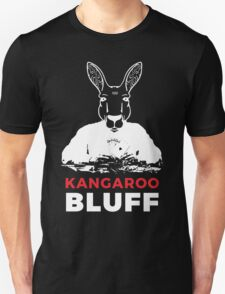 Smart Kangaroo Bluff Poker Game Playing Vector Face Unisex T-Shirt
