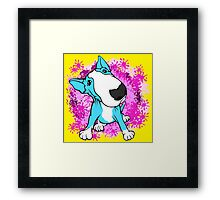 English Bull Terrier Cartoon  Framed Print