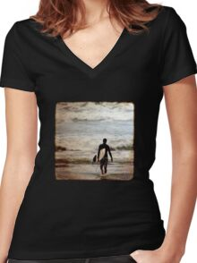 Heading Out Women's Fitted V-Neck T-Shirt
