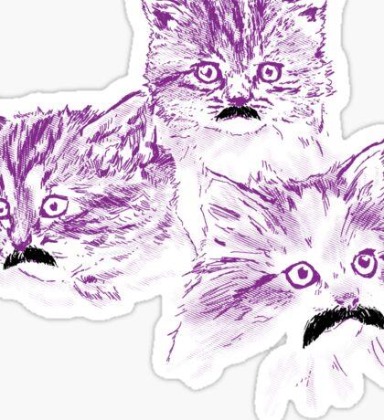 Meowstache Sticker