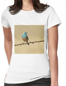 Blue Waxbill - Colorful Exotic Birds from Africa - Colors in Nature Womens Fitted T-Shirt
