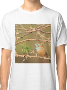 Blue Waxbill - Exotic Colorful Wild Birds from Africa - Sharp Beauty Classic T-Shirt