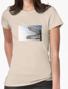 This way... Womens Fitted T-Shirt