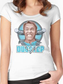 Dubstep Arnie Women's Fitted Scoop T-Shirt