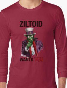Uncle Ziltoid Wants You! Long Sleeve T-Shirt