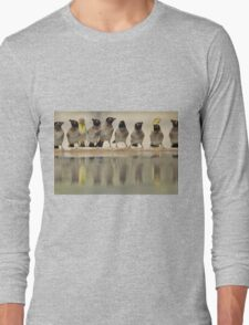 Colorful Exotic Wild Birds from Africa - Water is Life - Bulbul and Weaver Long Sleeve T-Shirt