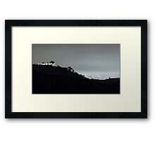Griffith Park Observatory and Los Angeles Skyline at Night Framed Print