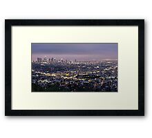 Los Angeles at Night from the Griffith Park Observatory Framed Print