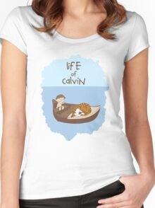 Life of Calvin Women's Fitted Scoop T-Shirt